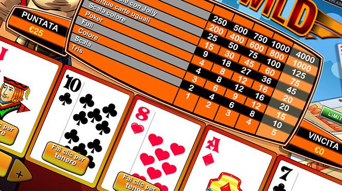 Gioca a Deuces Wild su Casino.com Italia