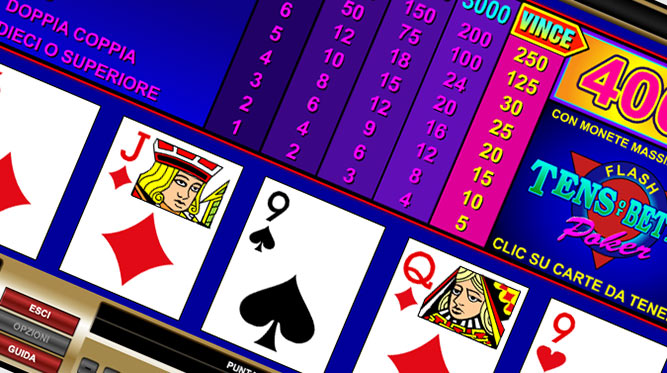 Tens or Better Video Poker (1 mano)