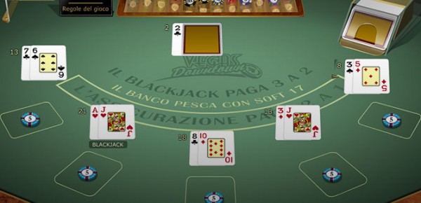blackjack vegas downtown multi-hand