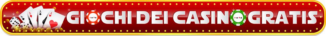 Giochi dei casino gratis online! Slot machines, roulette, blackjack e molti altri da provare gratuitamente in flash!