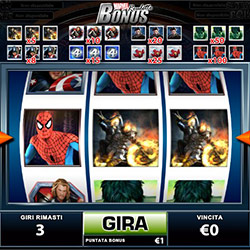 la slot machine nella marvel roulette