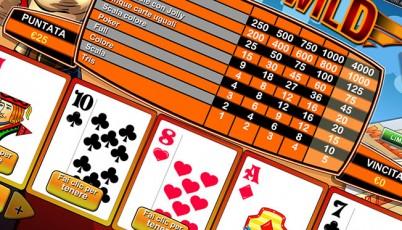 video poker deuces wild